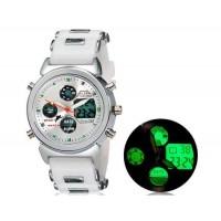 SHORS 80038  аналоговые и цифровые дисплей часы (белые)