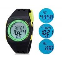 SHORS 798 светодиодные электронные часы с силиконовым ремешком (Черный) М.
