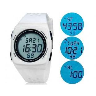 SHORS 798  светодиодные электронные часы с силиконовым ремешком (белый)