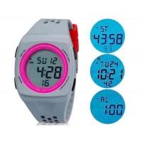SHORS 798 мужские светодиодные электронные часы с силиконовым ремешком (серый) М.