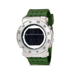 SHORS 80076 светодиодные часы с силиконовым ремешком (Army Green)