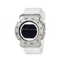 SHORS 80076  светодиодные часы с силиконовым ремешком (белый)