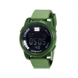 SHORS 801 светодиодные электронные часы с силиконовым ремешком (Army Green)