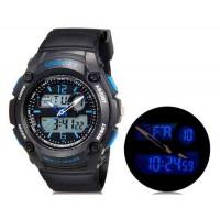 SHORS 790  аналоговые и цифровые дисплей часы (синие)