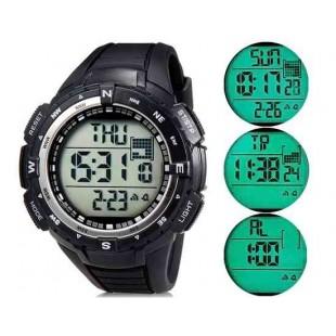SHORS 796 cветодиодные электронные часы с силиконовым ремешком (Черный)