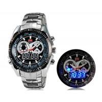 Мужские многофункциональные часы цифровой и аналоговый дисплей 100 м Водонепроницаемые светодиодные спортивные часы