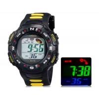 LASIKA F72 цифровые спортивные часы, календарь, таймер (желтый) М.