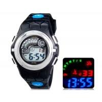 LASIKA F64 цифровые спортивные часы, календарь, будильник(черный)