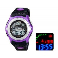 Купить LASIKA F64 цифровые спортивные часы, календарь, будильник(черный и фиолетовый)