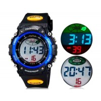 iTaiTek 812 спортивные часы с пластиковым ремешком, календарём, будильником (синий)