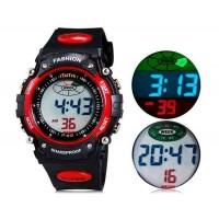 iTaiTek 812 спортивные часы с пластиковым ремешком, календарём, будильником (красный) М.