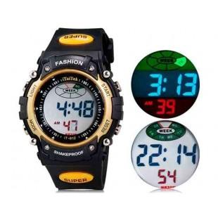 iTaiTek 812 спортивные часы с пластиковым ремешком, календарём, будильником(желтый) М.