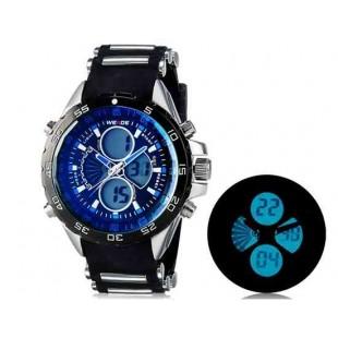 WEIDE 1103 Аналоговый и Цифровой циферблат 30 м Водонепроницаемые светодиодные спортивные часы (синий)