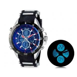 WEIDE 1103 Аналоговый и Цифровой циферблат 30 м Водонепроницаемые светодиодные спортивные часы (оранжевый)