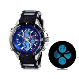 WEIDE 1103 Аналоговый и Цифровой циферблат 30 м Водонепроницаемые светодиодные спортивные часы (красный)