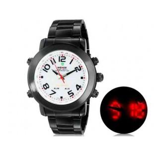 WEIDE 1105 Аналоговый и Цифровой циферблат 30 м Водонепроницаемые светодиодные спортивные часы