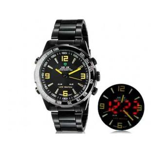 WIDE 1009 - Аналоговый и Цифровой дисплей  30 м Водонепроницаемые светодиодные спортивные часы с браслетом