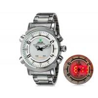 WIDE 1101 Аналоговый и Цифровой дисплей  30 м Водонепроницаемые светодиодные спортивные часы с браслетом
