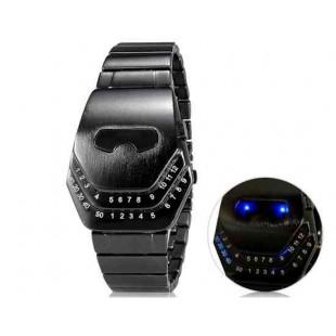 Змеиная голова Дизайн LED Watch (Темно-серый)