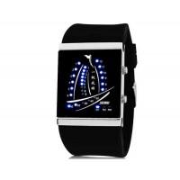SKMEI 1001  30M водонепроницаемые светодиодные электронные Спортивные часы с календарем и ночной функцией (черный)