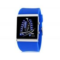 SKMEI 1001 30M водонепроницаемые светодиодные Спортивные часы с календарем  (синий)