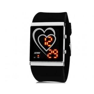 SKMEI 1001 30M водонепроницаемые светодиодные Спортивные часы с календарем (черный)