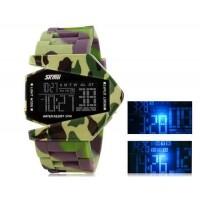 SKMEI 0817 30M водонепроницаемые светодиодные электронные часы  часы с календарем  (камуфляж)