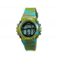 LASIKA W-F54 часы с календарем, будильником и подсветкой дисплея (Green)
