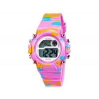 LASIKA W-F54 электронные часы с календарем, будильником и подсветкой дисплея (Pink)
