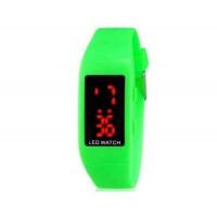 Купить ZX1405 Стильные для студентов светодиодные электронные часы (зеленый)