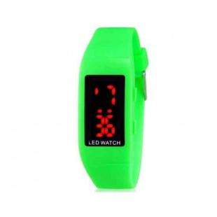 ZX1405 Стильные для студентов светодиодные электронные часы (зеленый)