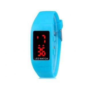 ZX1405 Стильные для студентов светодиодные электронные часы (синий)