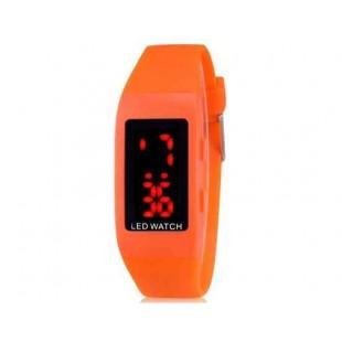 ZX1405 Стильные для студентов светодиодные электронные часы (оранжевый)