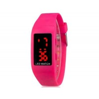 Купить ZX1405 Стильные для студентов светодиодные электронные часы (Rose Red)