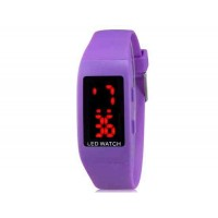 Купить ZX1405 Стильные для студентов светодиодные электронные часы (фиолетовый)