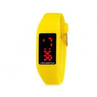ZX1405 Стильные для студентов светодиодные электронные часы (желтый)