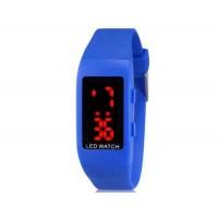 Купить ZX1405 Стильные для студентов светодиодные электронные часы (темно-синий)