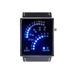 С синей подсветкой LED Watch (черный)