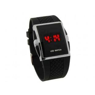 Цифровые электронные светодиодные часы Red Light (черный)