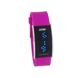 SKMEI 30 м Водонепроницаемые Спорт LED Watch (фиолетовый)