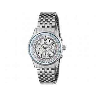 OUYAWEI Водонепроницаемые Автоматические механические часы браслет из  нержавеющей сатли (белый)