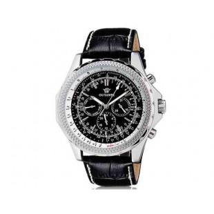 OUYAWEI Unisex Водонепроницаемые  Автоматические Механические  часы -  кожаный ремешок (черный)