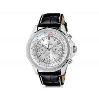 OUYAWEI Водонепроницаемые Автоматические Механические  часы  кожаный ремешок (белый)
