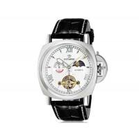 OUYAWEI 1230автоматические механические часы с кожаным ремешком (белый)
