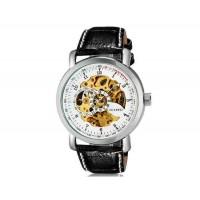 Купить OUYAWEI 1306  автоматические механические часы  кожаный ремешок (белый)