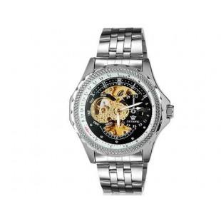 OUYAWEI 1316 автоматические механические часы  из нержавеющей стали браслет (черный)