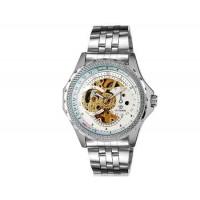 OUYAWEI 1316 автоматические механические часы из нержавеющей стали браслет (белый)
