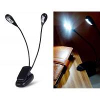 Двойная 4-LED USB лампа с  зажимом (черный)