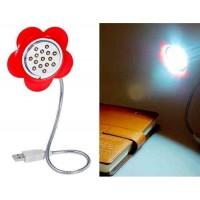 15-LED USB Flower светодиодная лампа (красный)