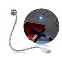Купить Цветочный дизайн с металлической трубкой USB LED Light для ноутбуков, ПК (серебро)